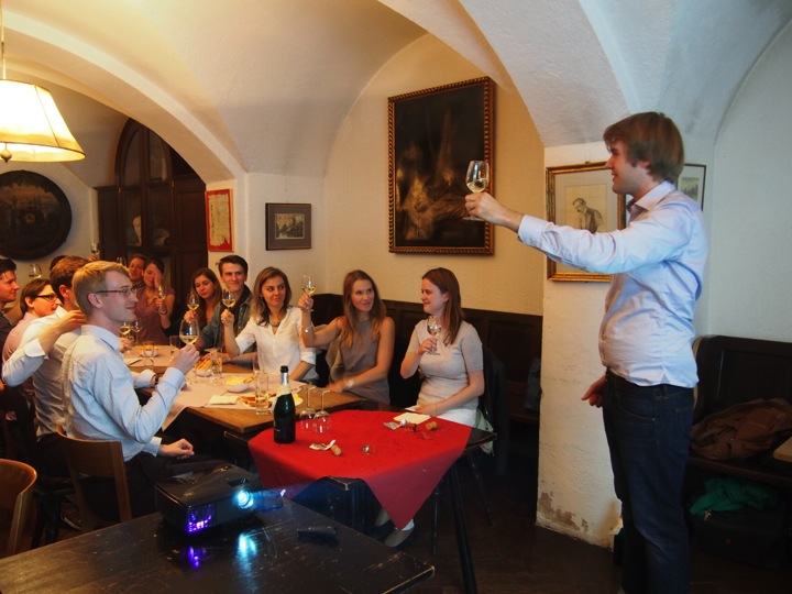 Julian presenting the wine